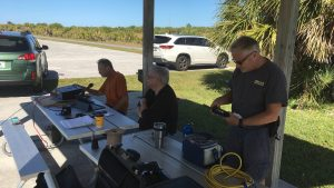 UPARC members operating from Honeymoon Island State Park