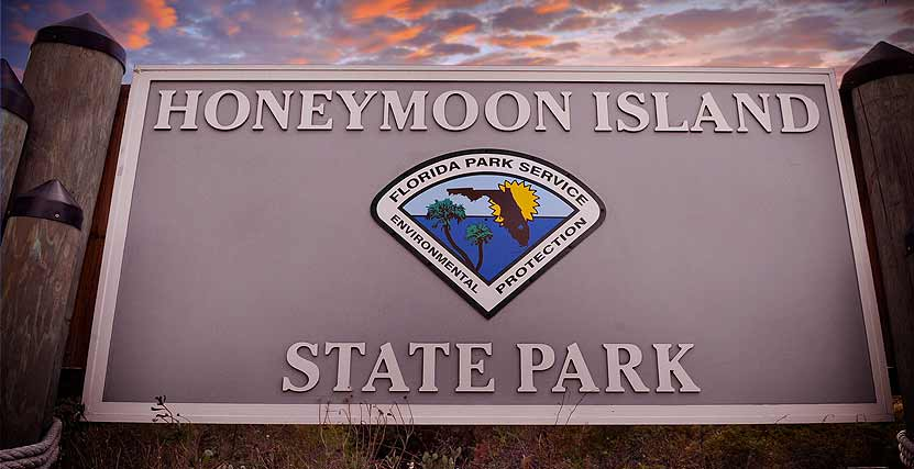 Honeymoon Island State Park Entrance Plaque